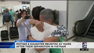 Mother and daughter reunited 43 years after their seperation in Vietnam
