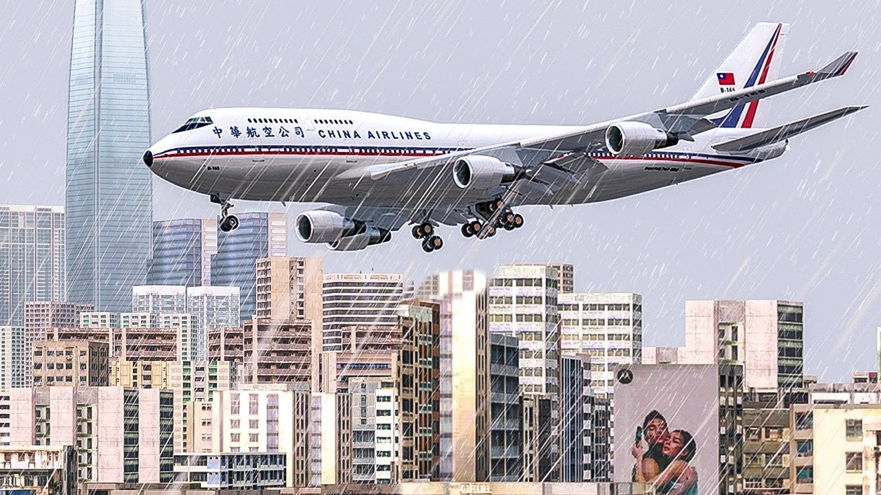 Boeing 747 Crash In Hong Kong Into The Storm China