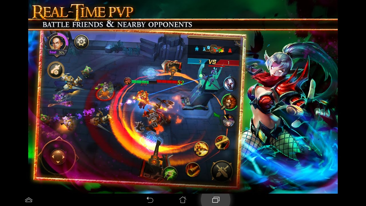 eternal arena ios android world of warcraft and dota 2 moba youtube