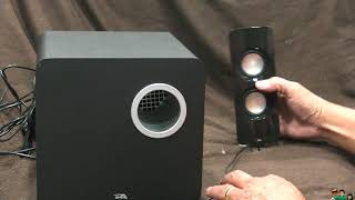 Cyber Acoustics 2.1 Speaker Sound System with Subwoofer and Control Pod (CA-3610) Test and Review