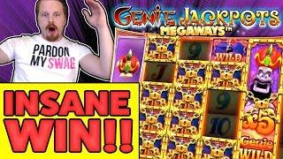 INSANE WIN in Genie Jackpots Megaways
