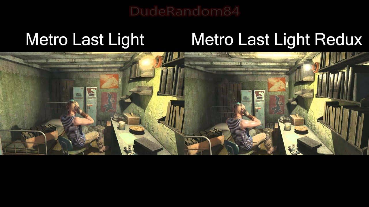 Metro Last Light Wallpaper Hd Metro Last Light Vs Metro Last Light Redux Side By Side