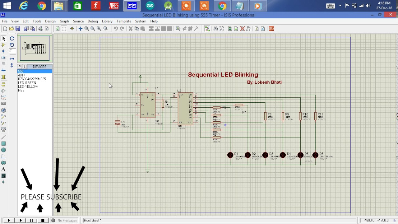How to blink sequential LEDs using 555 timer - YouTube