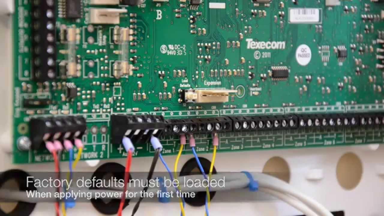 Addressable Fire Alarm Control Panel Wiring Diagram Nissan Xterra Speaker Texecom Premier Elite Panels - Loading Defaults Youtube
