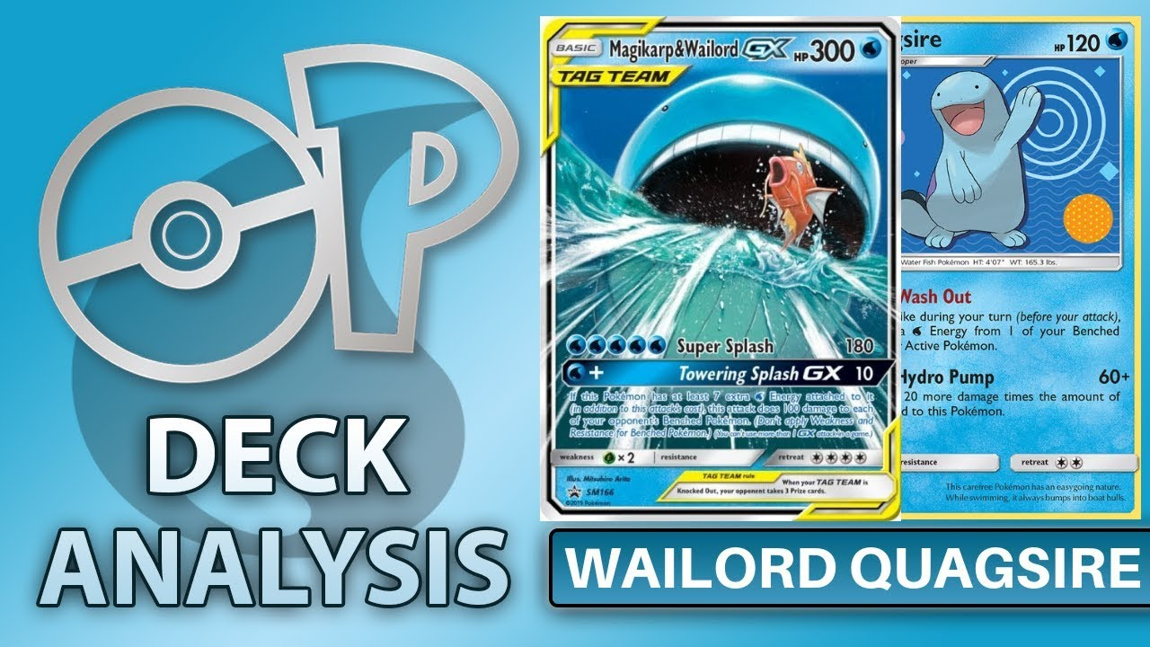 Quagsire w/Wailord&Magikarp Tag Team Deck Analysis and ... Wailord And Quagsire