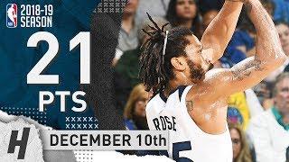 Derrick Rose Full Highlights Timberwolves vs Warriors 2018.12.10 - 21 Pts, 4 Ast, 2 Rebounds!
