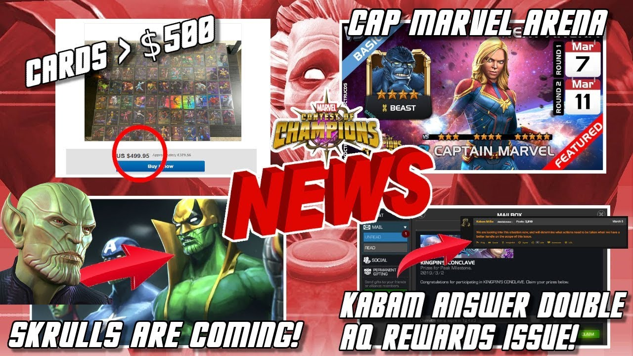Double Rewards Response, GAME DOWN, Skrulls and Much More [MCN]