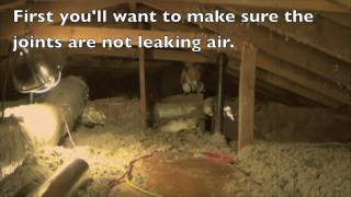 Radiant barrier foil insulation duct wrap how to by HeatBlockers Thumbnail