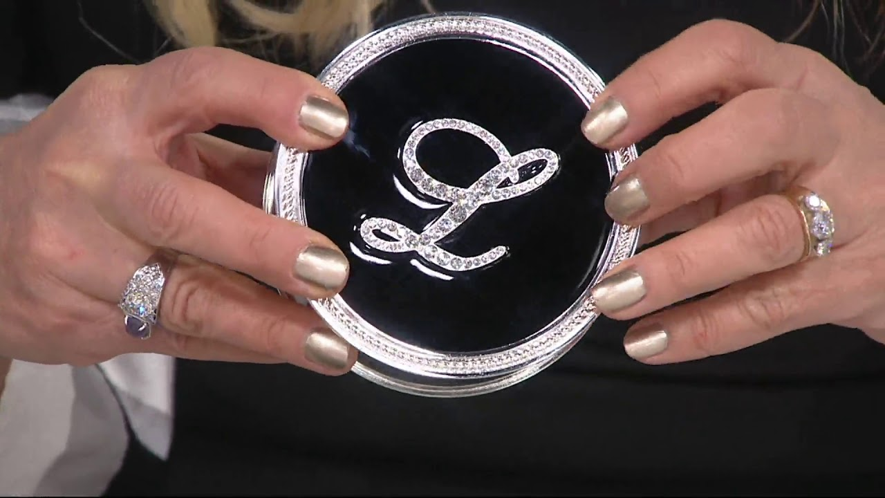 Safekeeper Initial Jewelry Box with Rope Trim by Lori Greiner on QVC