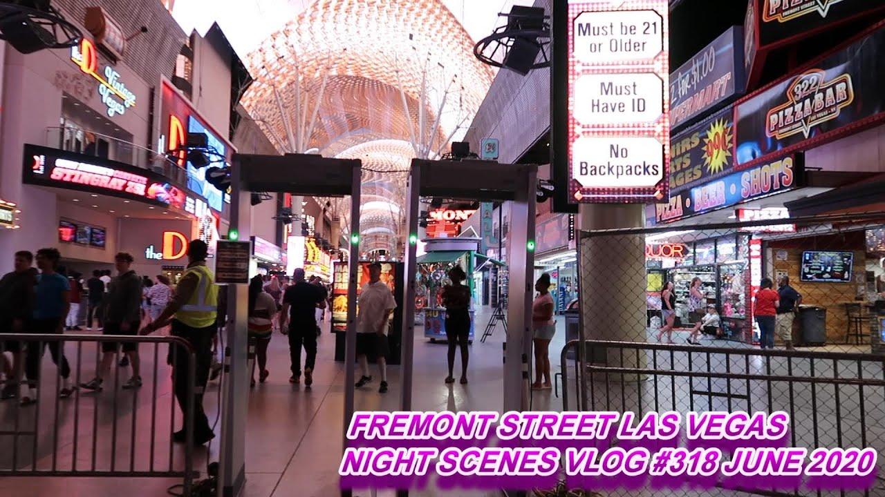 FREMONT STREET LAS VEGAS NIGHT SCENES JUNE 2020 VLOG #318