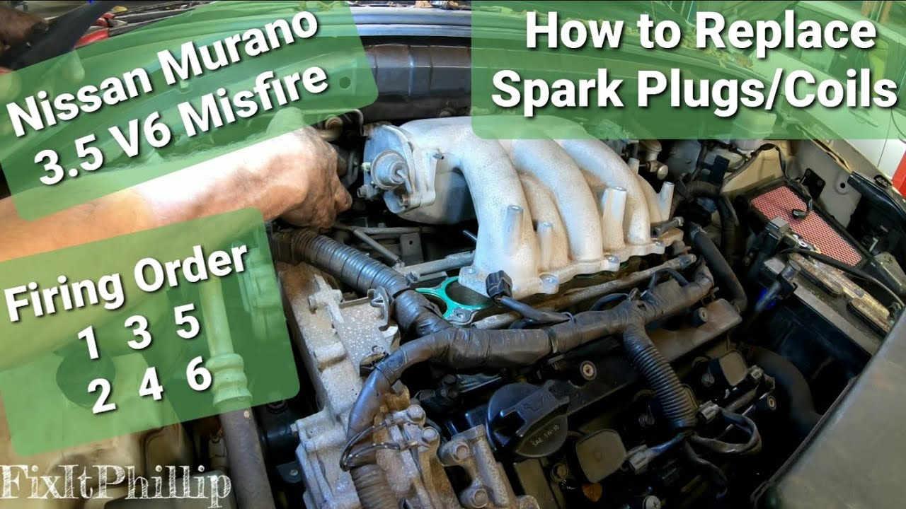 What Is A Spark Plug >> Nissan Murano Spark Plug and Ignition Coil Replacement Misfire 3.5 Firing order - YouTube