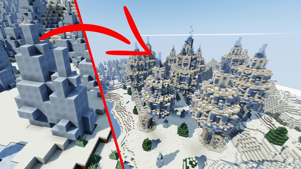 How To Build An EPIC Ice Temple In MINECRAFT Spike A