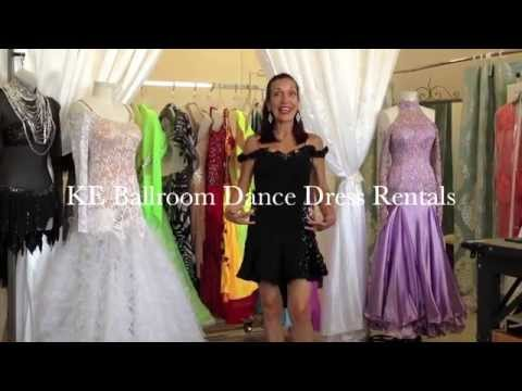 BALLROOM DRESS for RENT - LATIN #302-blk