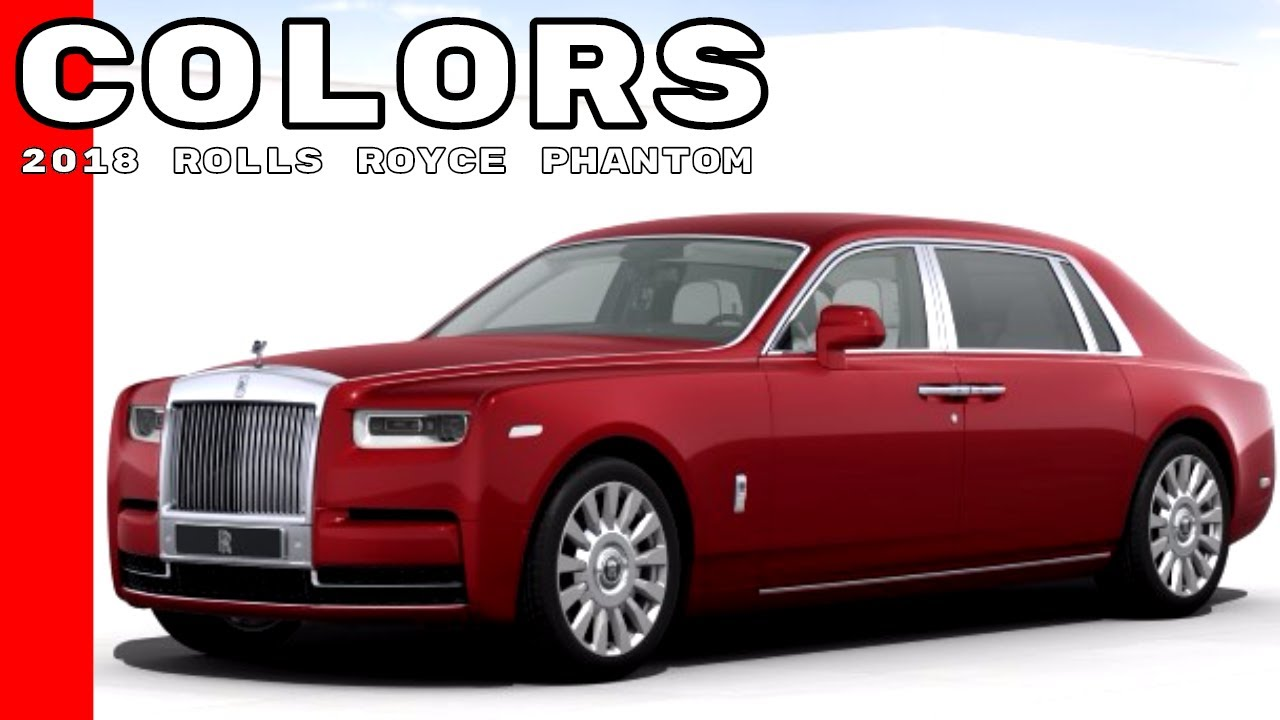 2018 Rolls Royce Phantom Colors
