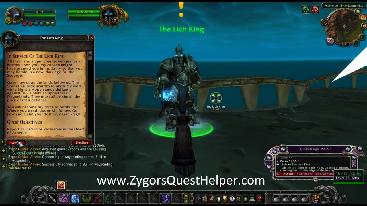 Wow Death Knight Leveling Guide The Best In Game Death Knight Leveling Guide Youtube