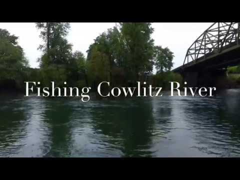 Fishing the cowlitz river/drone footage