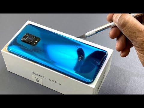 Redmi Note 9 Pro   Unboxing   Camera Test   Aurora Blue Colour