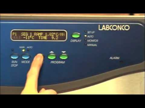 Programming the Labconco FreeZone Stoppering Tray Dryer