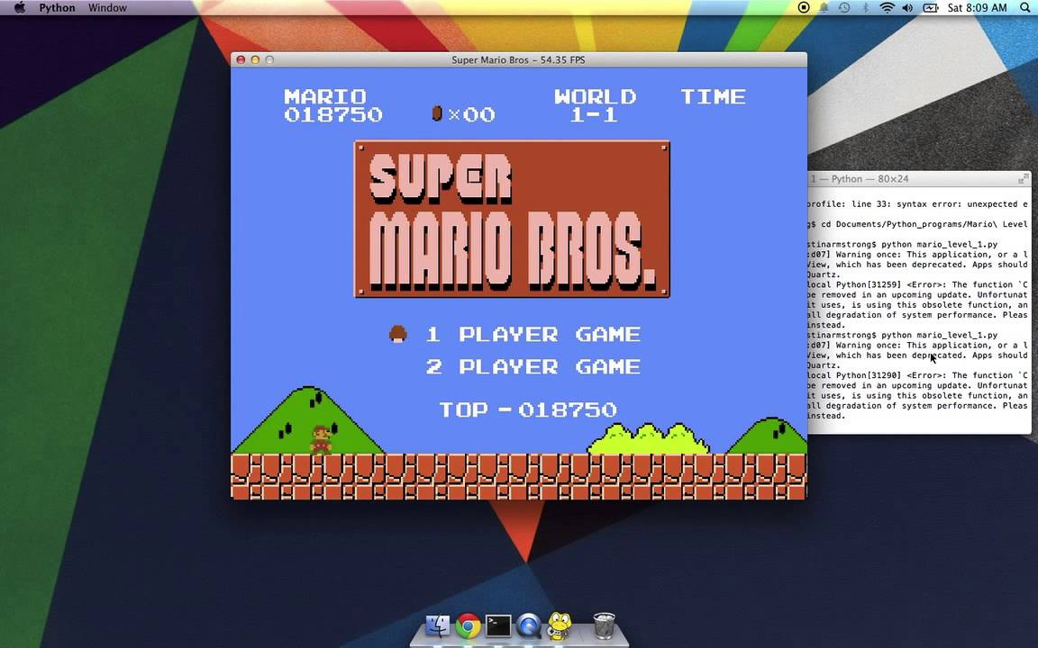 Super Mario Bros with Python and Pygame