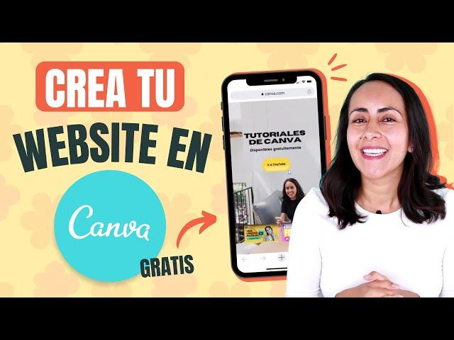 Como hacer Sitios WEB GRATIS en Canva - Fácil!