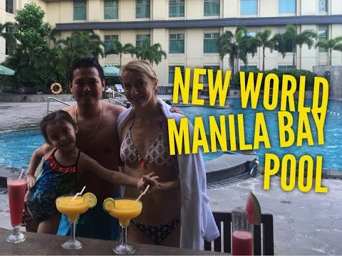 New World Manila Bay Pool and Pool Bar Tour Overview by HourPhilippines.com