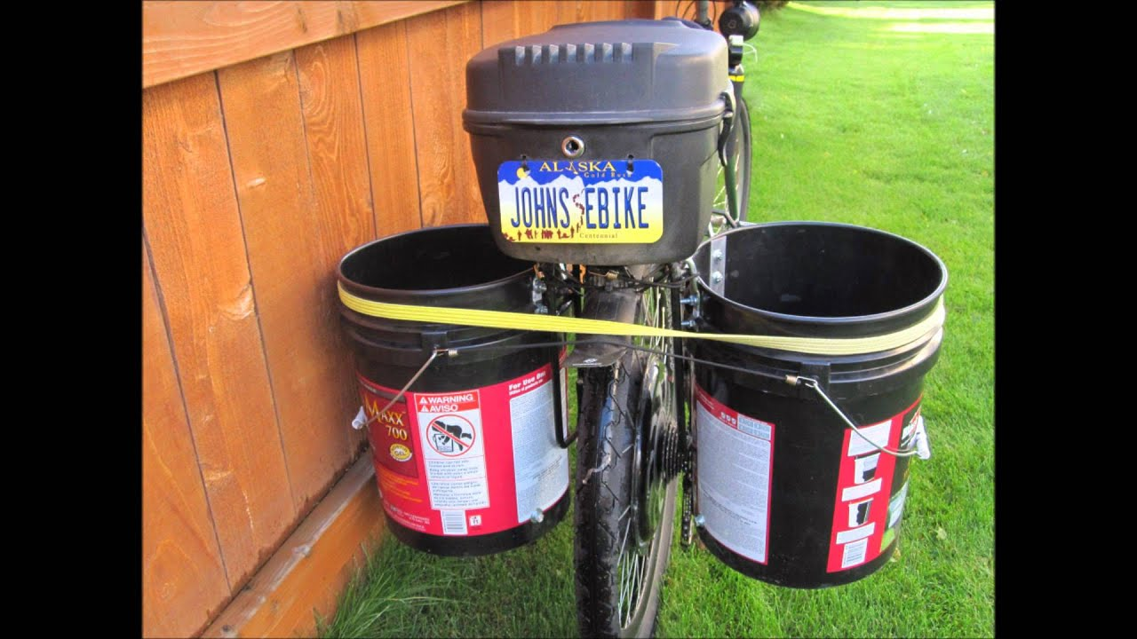 Electric Bicycle Project Amp Diy 5 Gallon Bucket Panniers