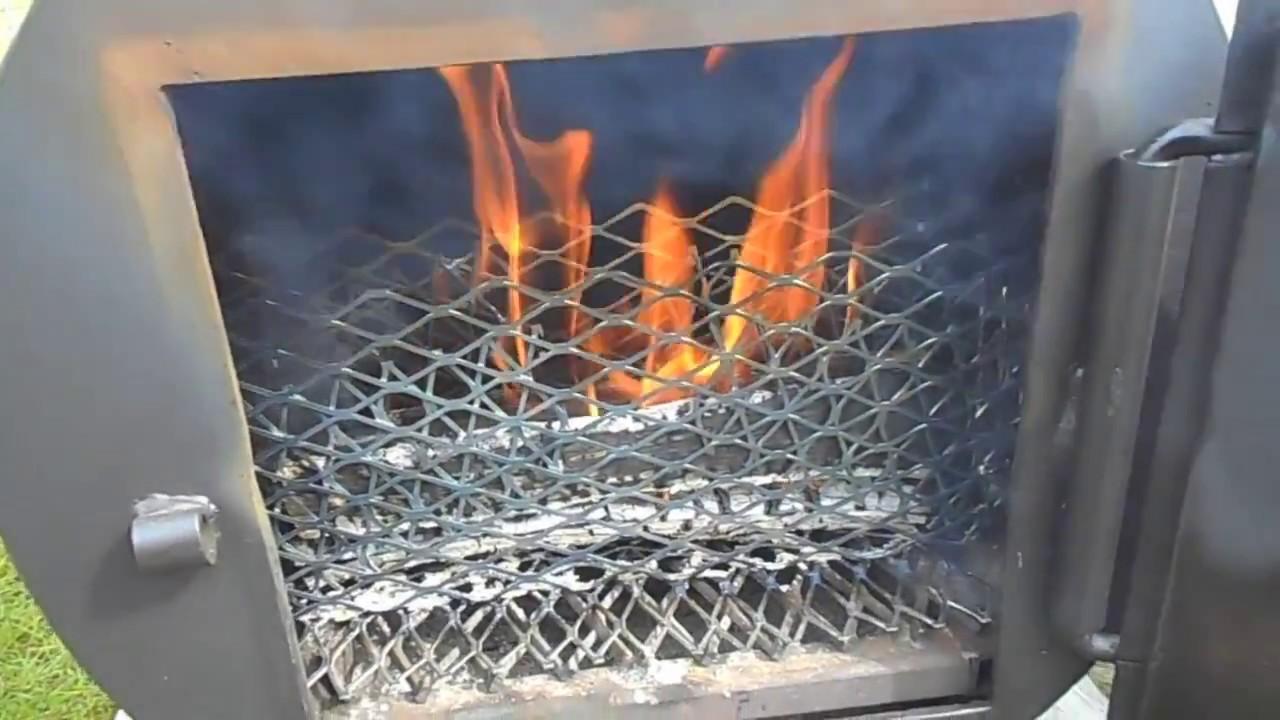 Fire Management of Reverse Flow Offset Smoker using the