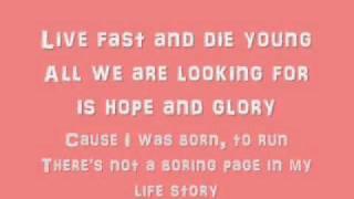 Aqua - Live fast, Die young ~ Lyrics on screen.