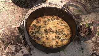 Cowboy Camper Cooking - Breakfast Pie (Quiche)