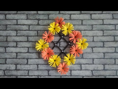 DIY crafts: PAPER FLOWERS (daisies) - Easy Wall Decoration Ideas | Tubelife