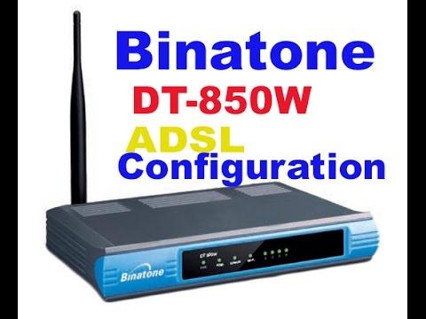Binatone DT 850 ADSL+ router configurtion