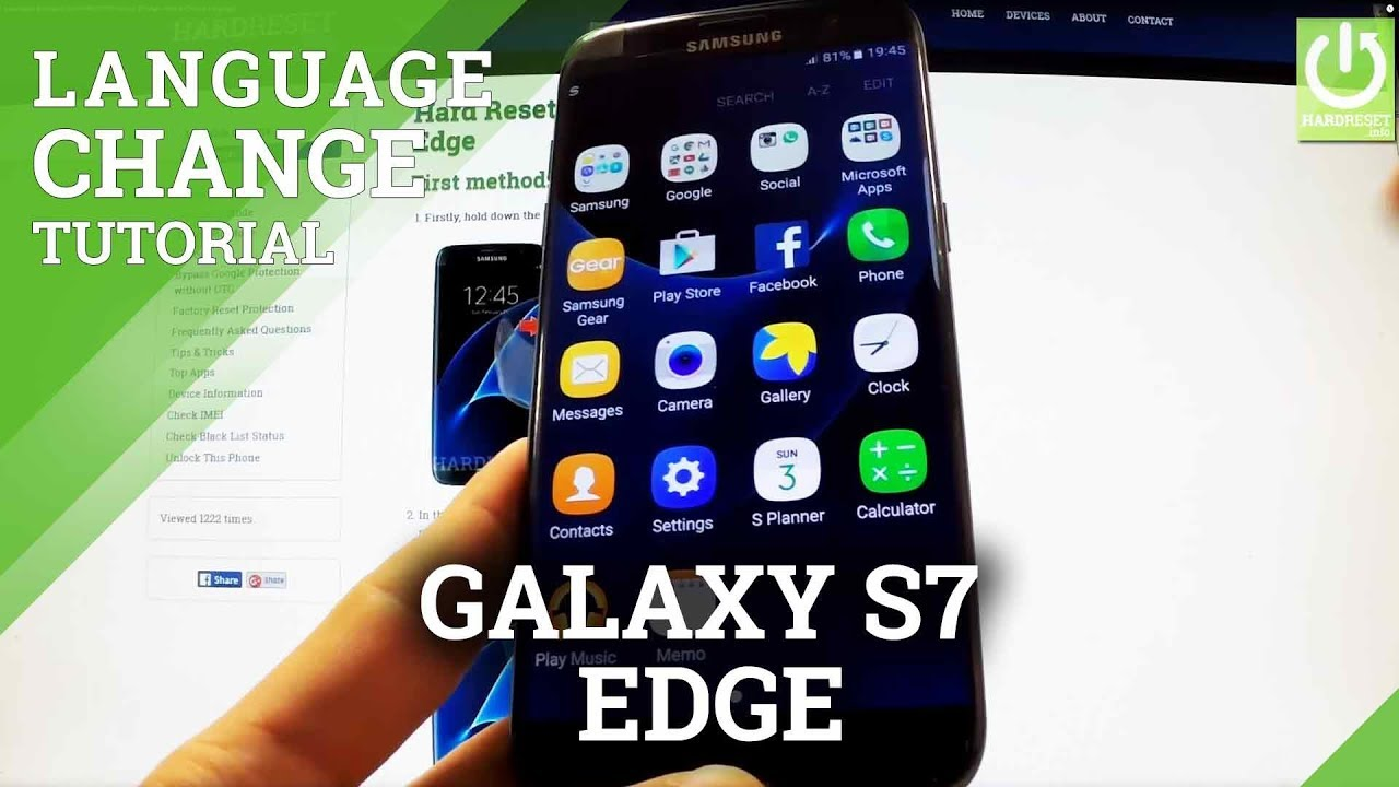 How To Change Language in SAMSUNG Galaxy J7 Prime