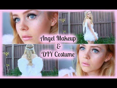 Halloween | Angel Makeup & DIY Costume - YouTube