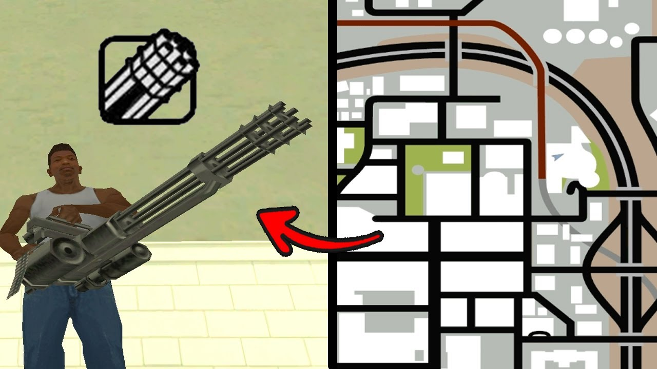 Gta San Andreas Minigun Location Secret Location Youtube