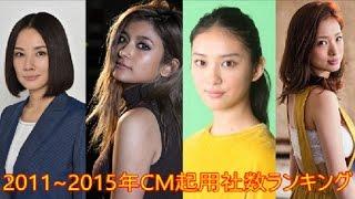 吉田羊は2015年だけでCMが一気に9社となり、『CM起用社数ランキング』の...
