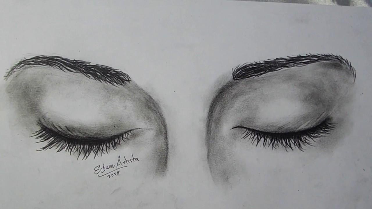 Como Dibujar Ojos Cerrados