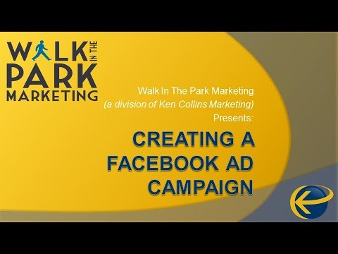 Free Training - Creating a Facebook Ad Campaign