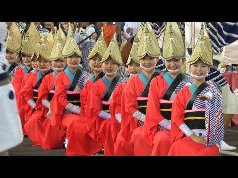 流し踊り「水玉連」第33回南越谷阿波踊り(2017.8.20)
