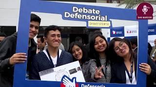 Tema: Final del Debate Defensorial Universitario