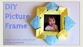 Diy Origami Picture Frame - How To Fold / Make A Picture Frame - Easter Crafts Gift Idea