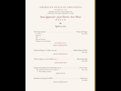 AGO Endowment Fund Distinguished Artist Award Recital honoring Joan Lippincott