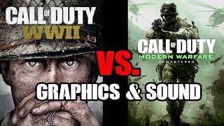 Call Of Duty COD WWII vs Modern Warfare Remastered MWR Graphics & Sound Compared PS4