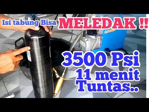 3500psi Isi Tabung Composite PCP Dengan Compresor Tutorial
