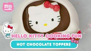 DIY Hello Kitty Marshmallow Hot Chocolate Toppers   Hello Kitty Cooking Fun