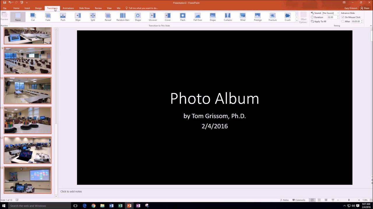Itcts057 Super Easy Photo Album Powerpoint 2016