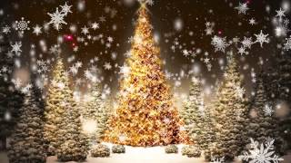 Gambar cover Snowflakes Falling Christmas Trees Motion Graphic Video Loop Free Download HD