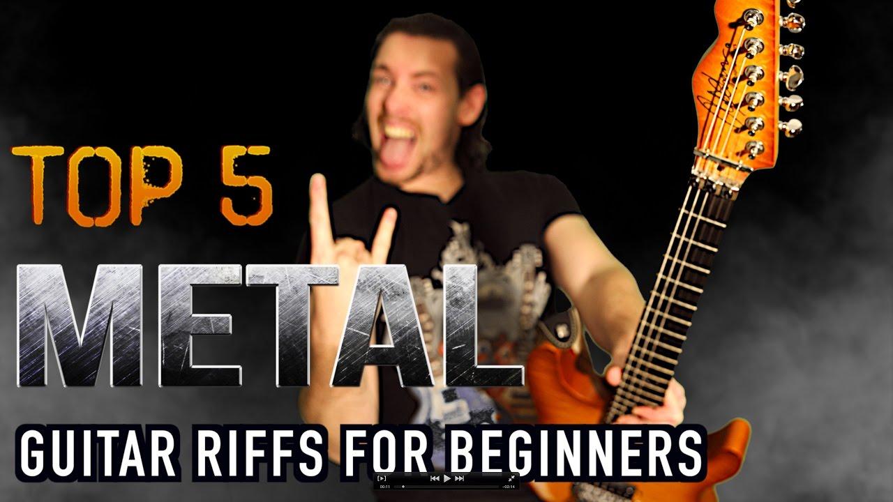 top 5 simple metal guitar riffs for beginners youtube. Black Bedroom Furniture Sets. Home Design Ideas