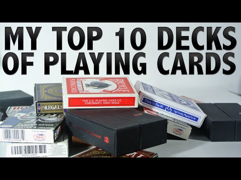My Top 10 Decks Of Playing Cards 2015 [HD]