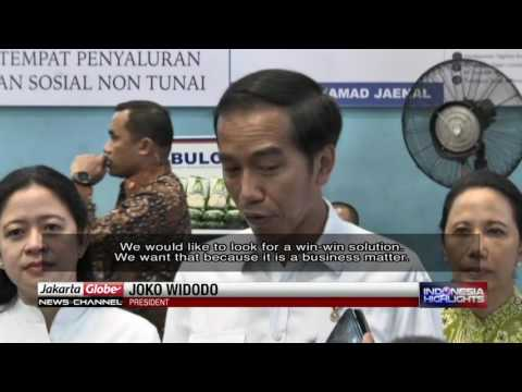 Jokowi Comments On Dispute Between Government & Freeport