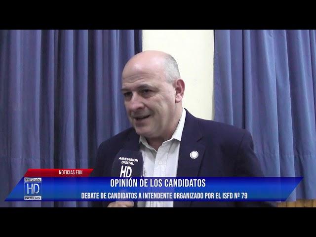 Debate ISFD Nº79 opinión de los candidatos
